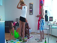Ally & Anabell & Ivana Sugar & Milia In College Orgy With A Lot