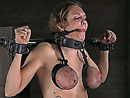 Sexy Brunette Bitch With Tied Boobs Is Punished By Her Perverted