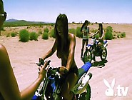 Badass Playboy Models In Topless Go For A Motocross Ride In The