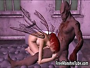 Redhead 3D Elf Babe Gets Fucked Hard By A Goblin