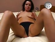 Genese Jacks Off Her Husband Until He Creams On Her Boobs