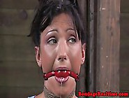 Kinky Woman Got Gagged And Tied Up With Her Legs Spread Wide,  Be