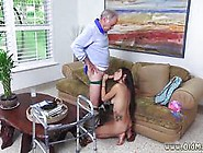 Old Grandpa Gets His Dick Sucked By A Perverted Teen Babe