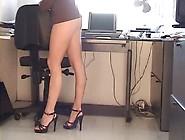 Karen White Upskirt In A Mini-Dress