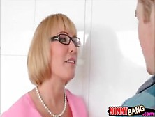 Busty Stepmom Mellanie Monroe Caught Teen Sucking Cock