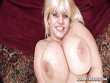 Blonde Bbw With Big Fat Melons Gives Titjob & Fucks Hard