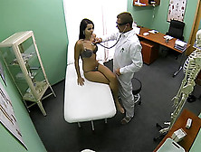 College Chick Ferrera Gets Her Sexy Body Examined By The Pervy D