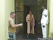 Two Dudes Share Very Old Granny