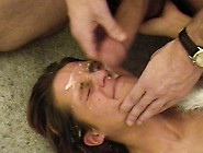 Amateur Teen Girlfriend Threesome With Cum In Mouth
