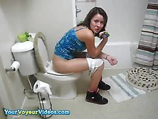 Hot Girl On Toilet Piss Scat Shit Poop Cute Pyt