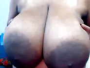 Giant Ebony Tits Masturbation Webcam