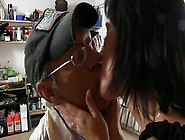 Young Whore Sucks Stiff Cock Of An Old Man In 69 Position
