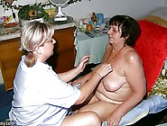 Oldnanny Fat Granny,  Hairy Pussy And Young Girl With Big Tit