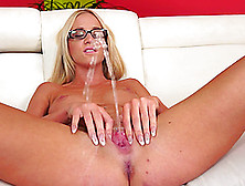 Well-Stacked Blonde Wench Kiara Lord Plays With Her Cunt