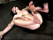 Girl Tied To Pole Mouthgag Nipple Clips Getting Her Pussy Finger