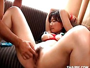 Tied Gaping Hairy Asian Teen Toyed