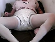 Diapered Sissybaby Peeing In Pantyhose So Double Diapered