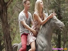 Nature Lover Teen Anjelica Super Sensual Sex In The Park