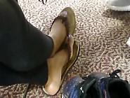 Hs Friend Candid Beautiful Ebony Feet In Library 2