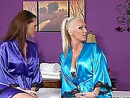Oil Massage Ends Up In A Lesbian For Hot Babes