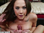 Throated Pornstar Chanel Preston's Extreme Gagging Juice Goes Al