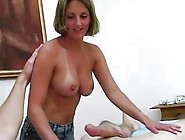 Ugly White Girl Gives A Good Massage To A Big White Cock