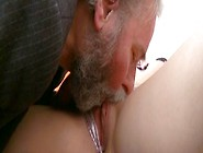 Her Boyfriends Old Father Eats Out Her Beautiful Pussy