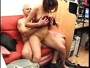 Horny Old Man Screws A Sexy Brunette