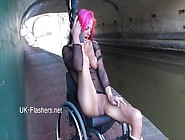 Uk-Flashers - Exhibitionist Wheelchair Babe Leah Caprice Public