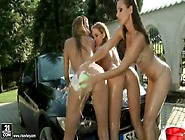 21sextury Cindy and Sandy, Diamond car washing part2