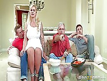 Voluptuous Blonde Woman,  Ryan Conner Likes To Feel A Rock Hard D