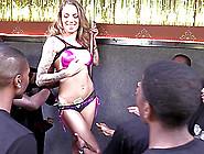 Vivacious Pornstar With A Sexy Tattooed Body Enjoying An Interra