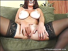 Big Natural Tit Lucky Benton Poses And Shows Ass Before She Fing