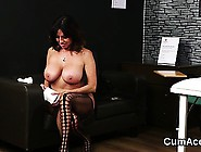 Slutty Doll Gets Cum Shot On Her Face Gulping All The Load