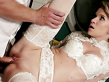 Blonde Bride Angel Piaff Gets Her Vag And Ass Pounded In The Lau