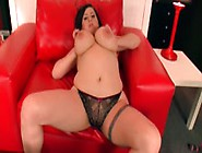 Bitchy Big Titted Girl Teasing With Her Chubby Body