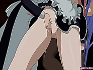 Huge Titted Hentai Maid Rides And Gets Jizzed