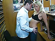 Blonde Hot Whore Is So Horny For Sex In The Dvd Store