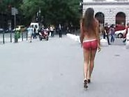 Zafira Body Painting Nude In Public Part 2