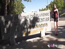 Picking Guys Up In Madrid College To Fuck Kat Diamond