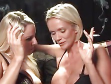 Dannii Harwood And Lucy Zara Smoking Action