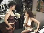 Teryn Sucks Lactating Chick's Tits