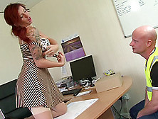 Redhead Yuffie Yulan Has Her Untiring Pussy Drilled