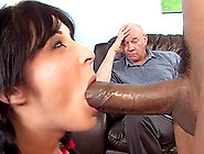 Delicious Chelsie Rae Has Interracial Sex In Front Of His Daddy