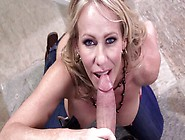 Hot Blonde Gets Her Tits Teased As She Giving A Blow Job