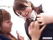 Office Lady Kissing Spitting With A Schoolgirl Get