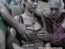 Two Old Men Grope Her Girlfriend In The Cinema. Mp4