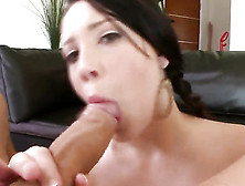 Chubby Babe Gives A Blowjob And Titjob To A Fat Dick