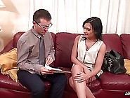 After A Hard Working Day French Brunette Amel Annoga Is Fucking