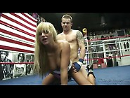 Big Titty Babe Boned In Boxing Ring